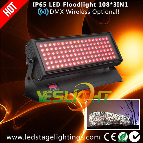 Outdoor LED Lighting 108*3W RGB CREE LEDs UL, Ce, RoHS