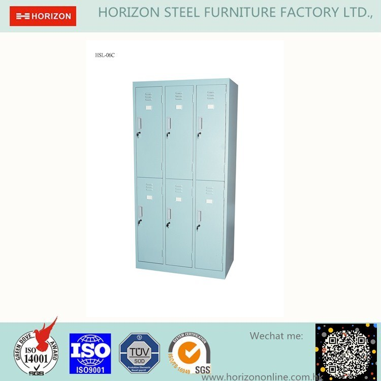 6 Doors Wardrobe Metal Furniture with Slim Edge and Index Holder /Clothespress