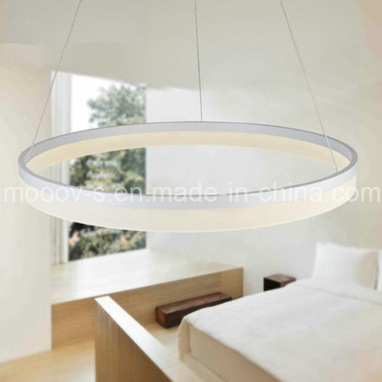 Modern Simple Hanging Decorative Cycle Ring Acrylic LED Pendant Light