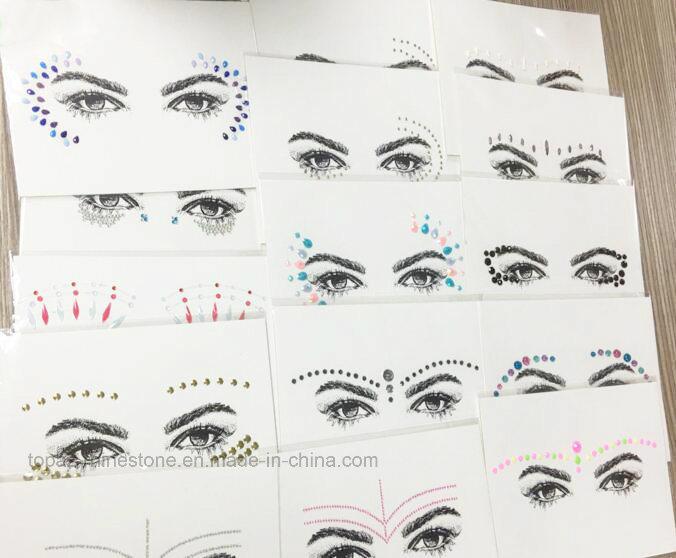 2017 New Eyebrow Rhinestone Sticker Head Crystal Rhinestone Sticker Eyeliner Tattoo Acrylic Sticker (TS-512)