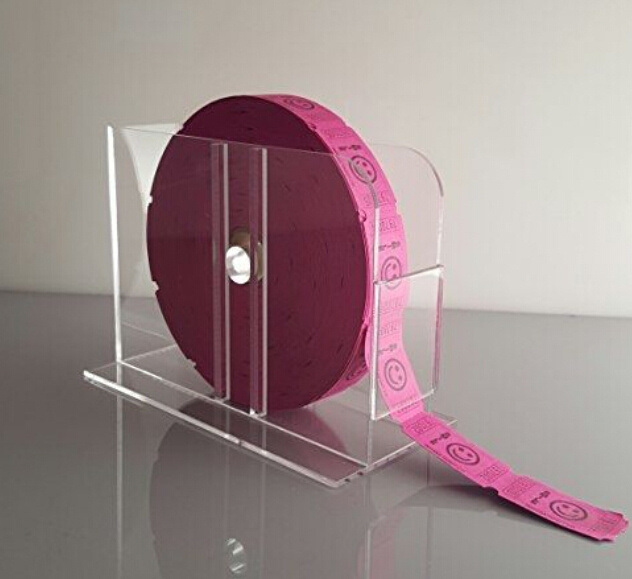 Acrylic Raffle Ticket Dispenser for Single Roll Tickets