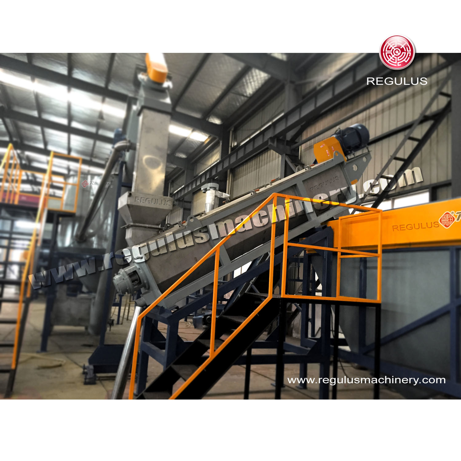 Pet Bottle Flakes Recycling Plant