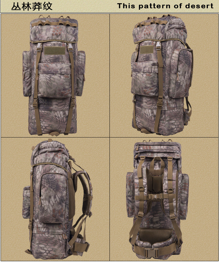 Multifunctional 1000d Nylon Water-Proof Hiking Tactical Backpack