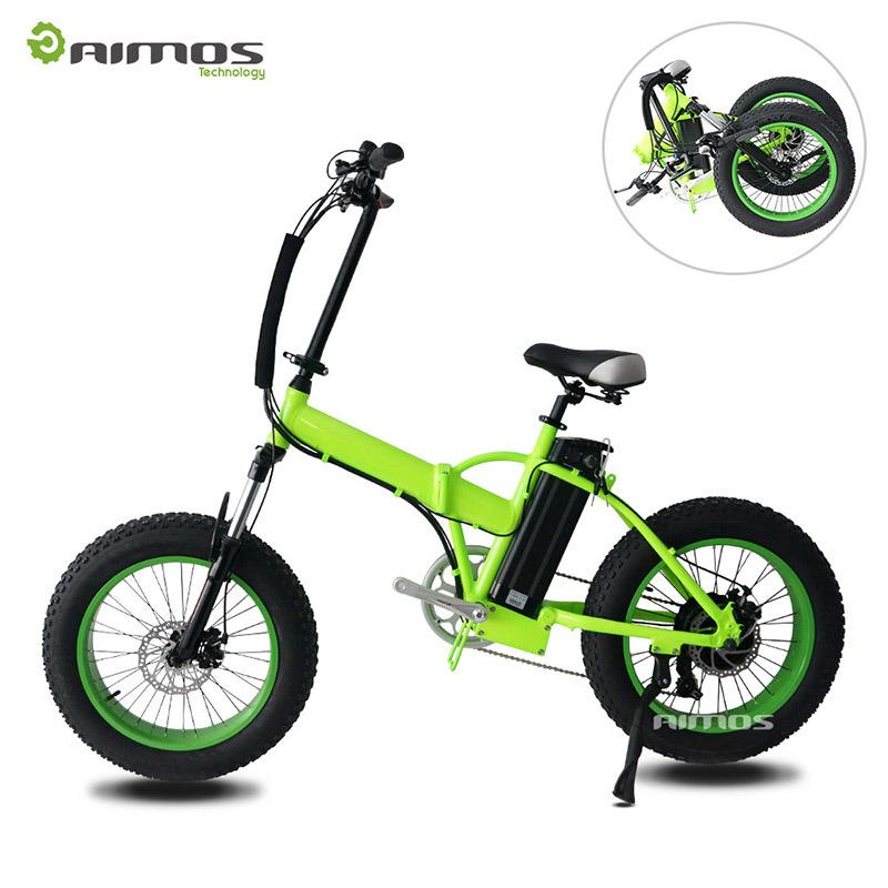 """20"""" Fat Tire Folded Electric Bike with Rear Gear Motor"""