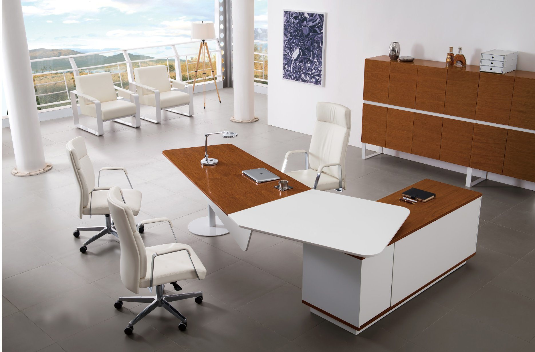 MDF Modern Conference Wooden Melamine Modern Executive Office Table (HX-GD088)