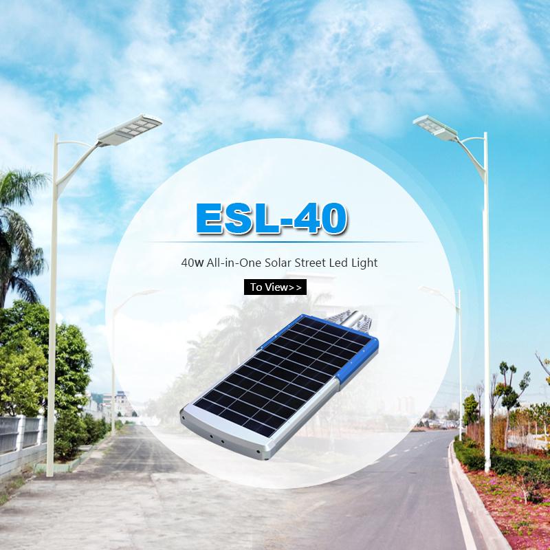 40W All in One Waterproof LED Solar Light for Street Lamp Pole Outdoor Garden