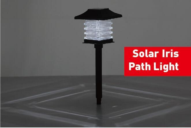 Solar Iris Stake Light with White LED
