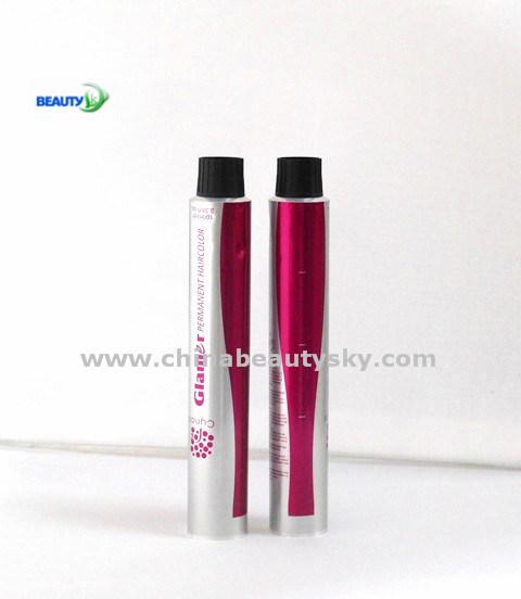 Hair Colour Cream Hair Dye Cosmetic Packaging Empty Flexible Aluminum Tube