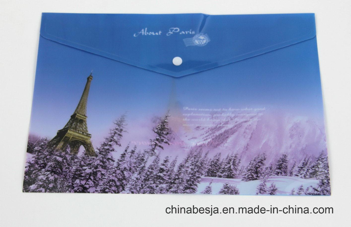 Bj-1043 Offset Print File Bag, China File Bag, China File Folder, China Documents File, Expanding File