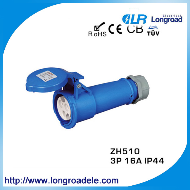 High Reliable Flush Straight Industrial Socket (Protection Rate: IP44)