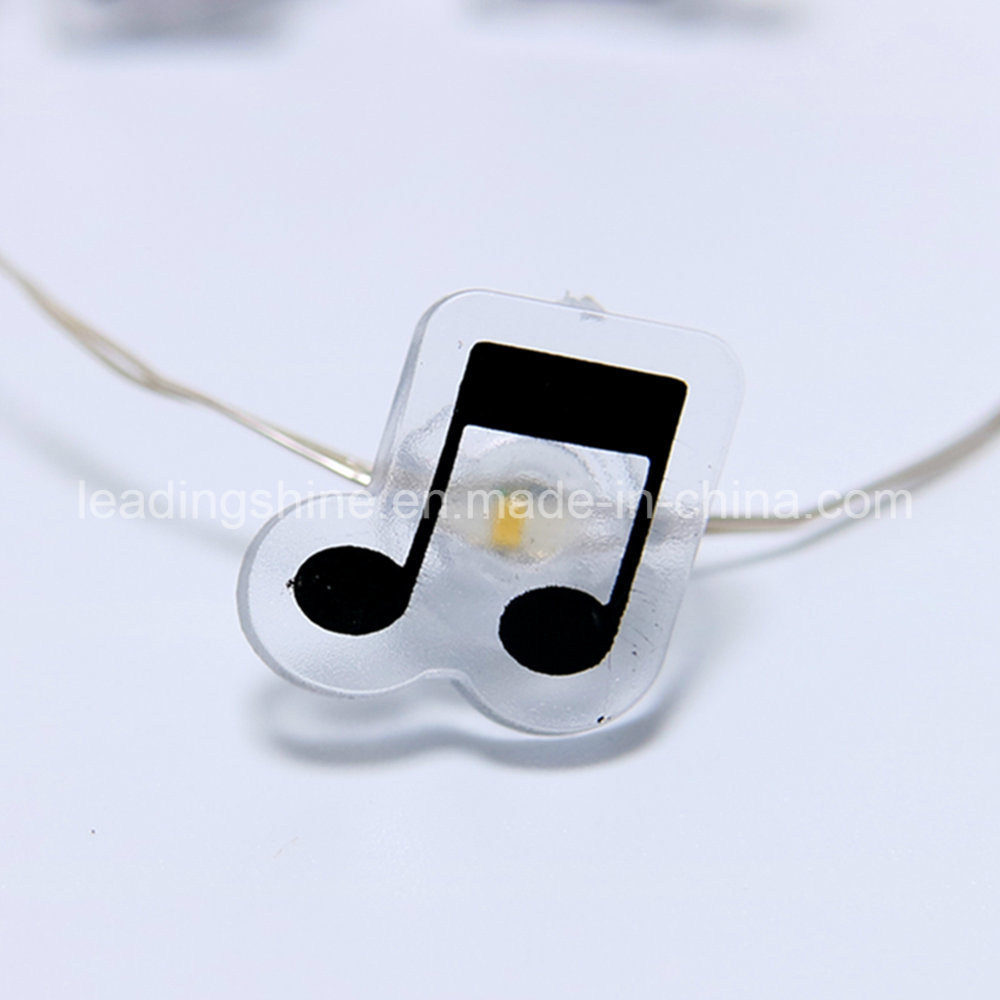 Copper Wire Waterproof Starry Lights for Garden Patio and Party Warm White Music Notes Shaped