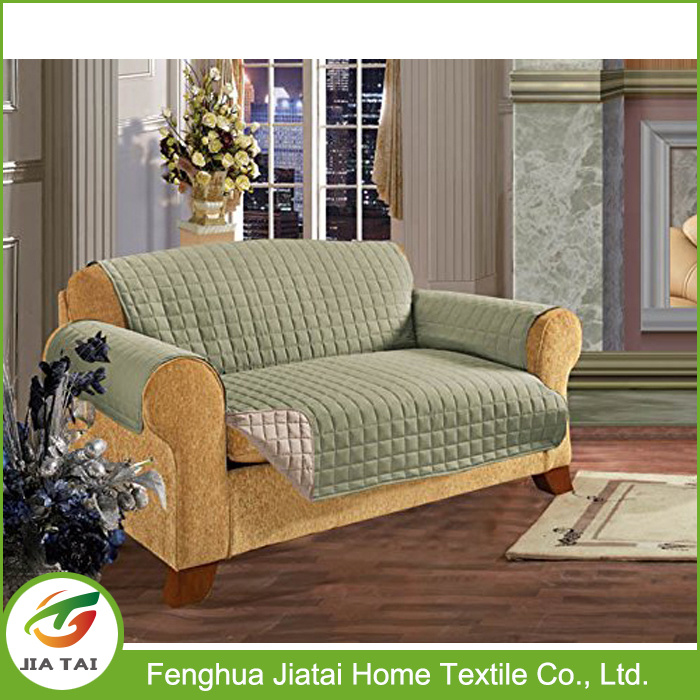Micro Suede Sofa Slipcover Polyester Reversible Sofa Cover