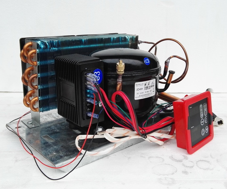 Purswave Bd35h 12V 24V 48V 60V 72V DC Compressor for Mini Refrigeration Max. 150liters Solar Fridge Freezer Portable Refrigerator Ice-Maker