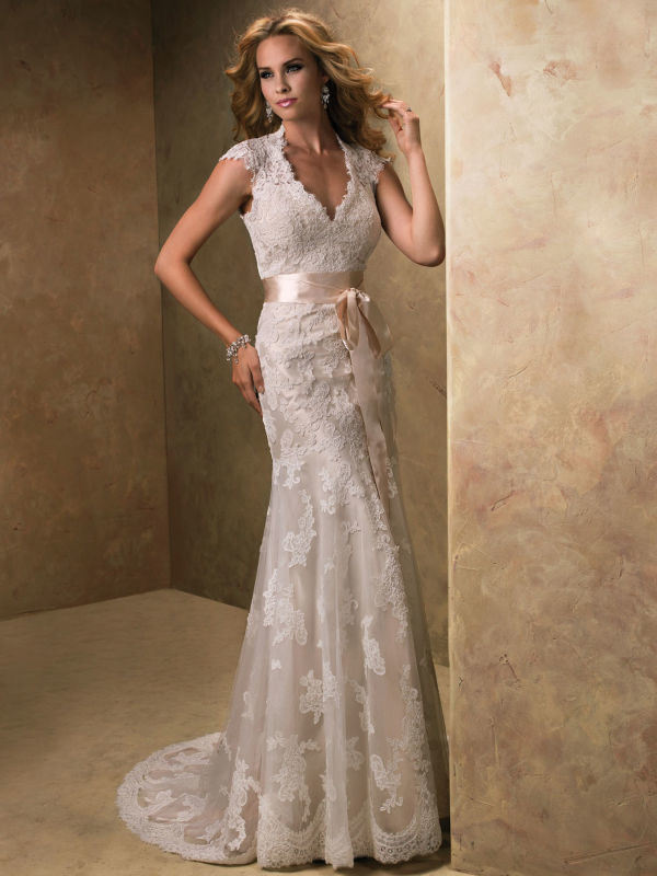 Sweetheart Lace Layer Bridal Gown Mermaid Wedding Dresses