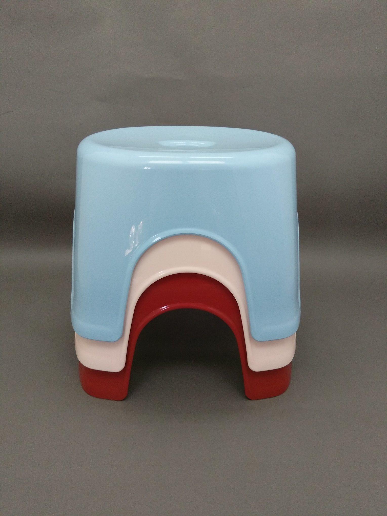 100% New PP, Colored Bathroom Plastic Stool