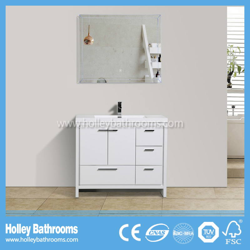Hot Sale MDF Floor Mounted Bathroom Cabinet with 4 Drawers and 2 Doors (BF343D)