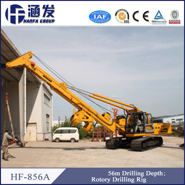 Hf856A Friction and Interlock Drilling Rods Pile Driver