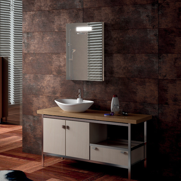 Wall Mounted Bathroom Fogless LED Light Mirror for Hotel