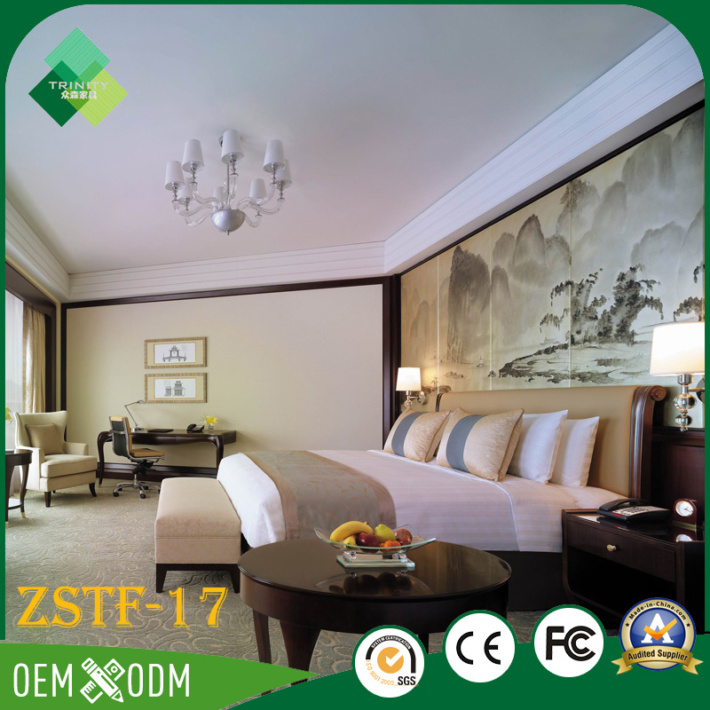 Luxury Chinese Style Bedroom Furniture Set Made of Birch (ZSTF-17)