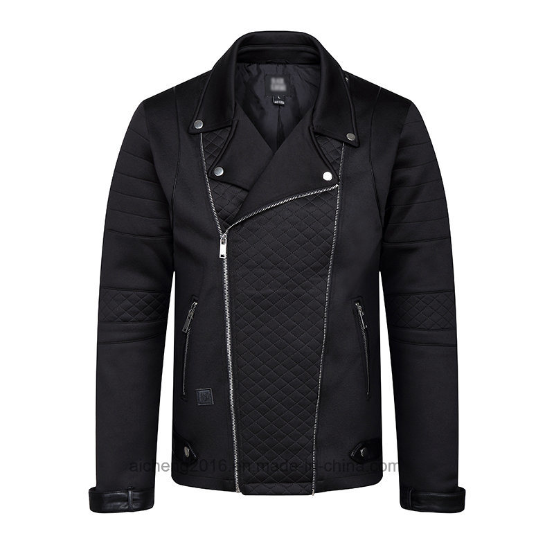 Man Leather Jacket Men Black Casual