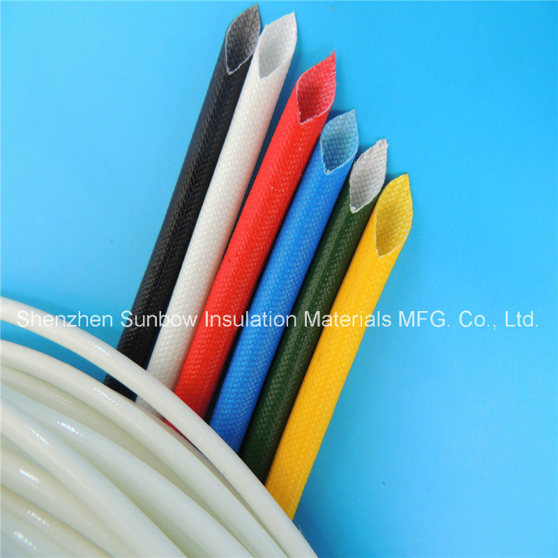 Insulation Materials Silicone Coated Electric Wire Protection Fiberglass Braided Sleeving
