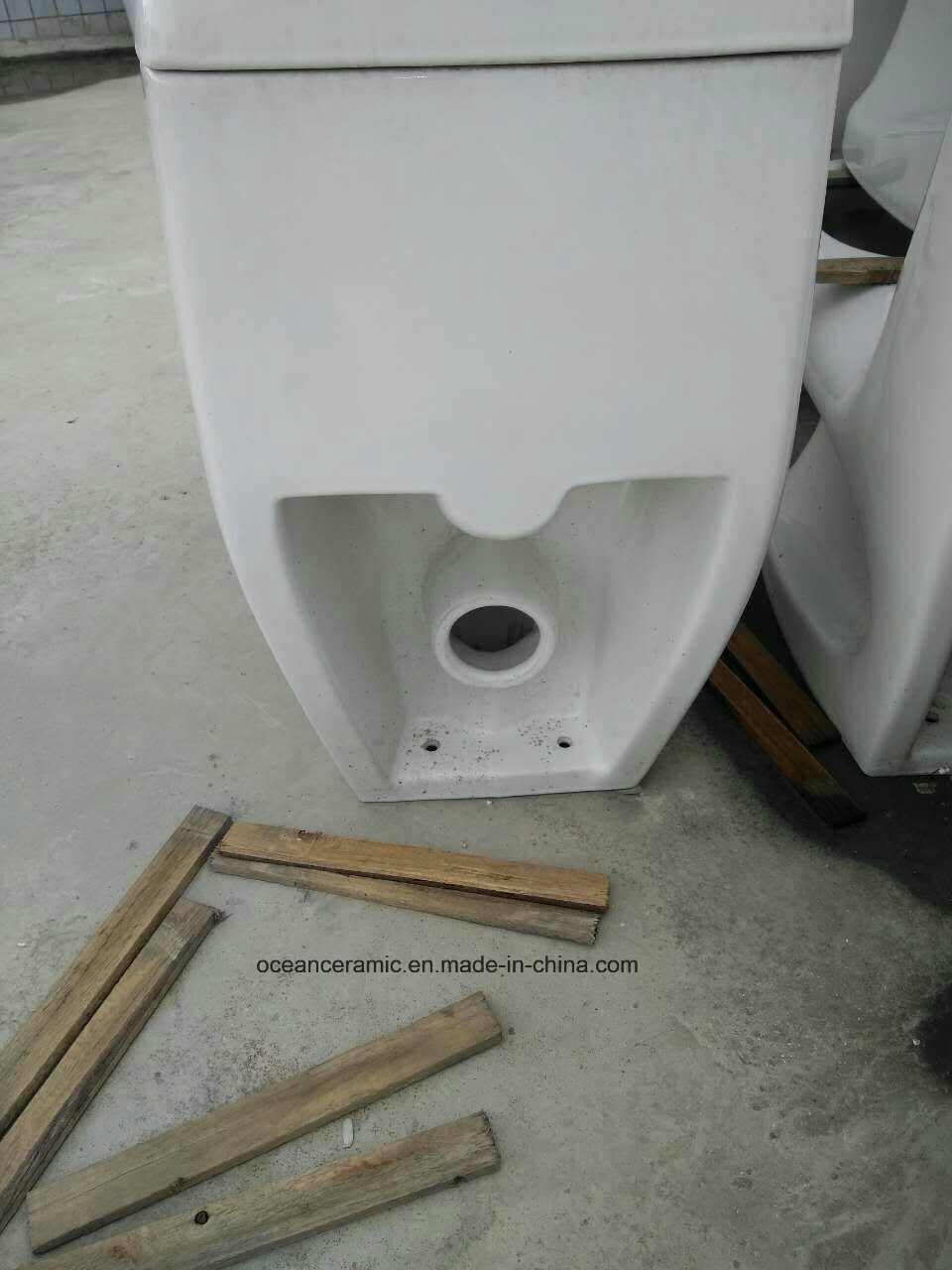 350 White Washdown P Trap 180mm One-Piece Toilet with Cheap Price and Good Quality