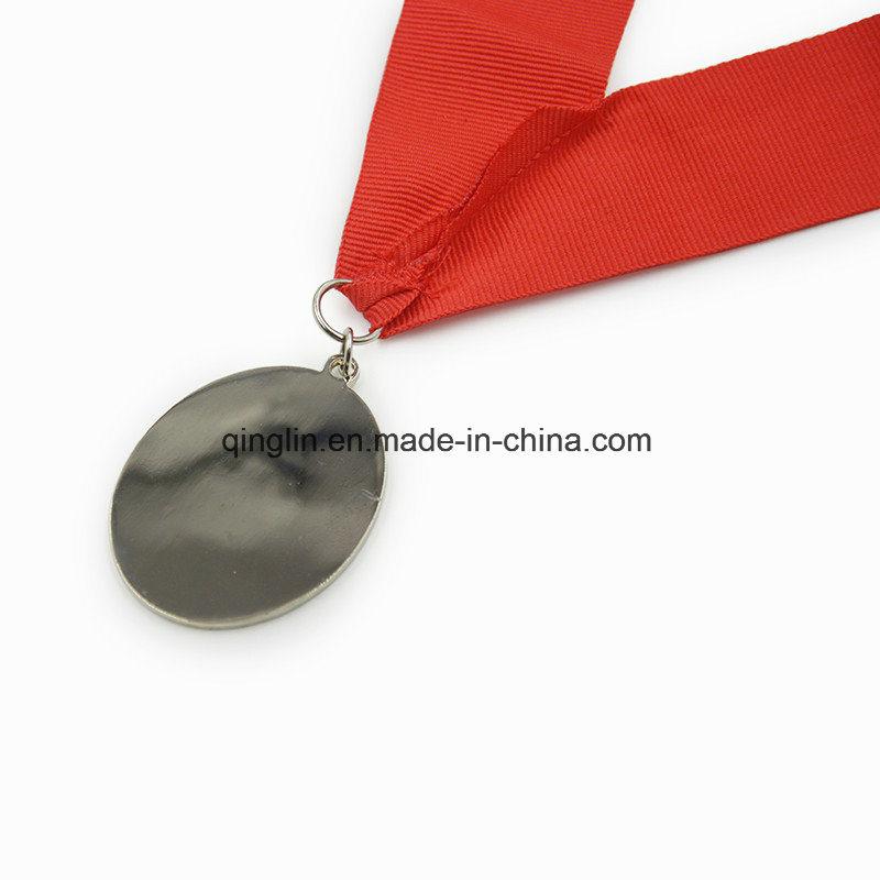 Custom Die Casting Sliver Plated Memorial Medallion