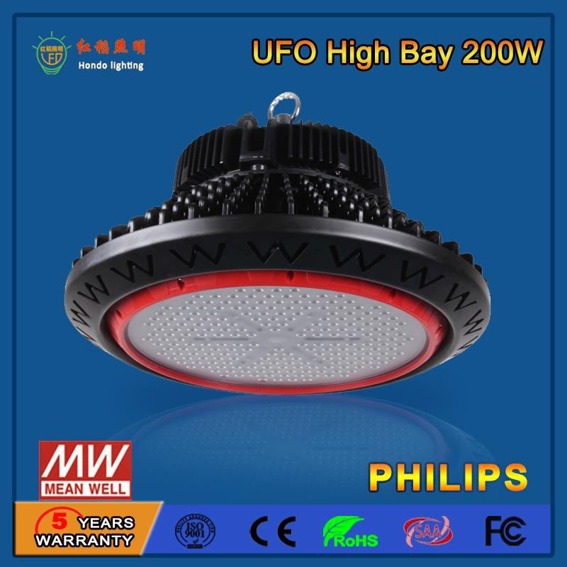 SMD2835/3030 110-130lm/W 200W LED High Bay Light for Industrial Workshop