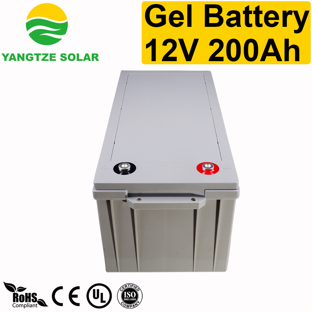 Rechargeable 12V 200ah Gel Deep Cycle Battery