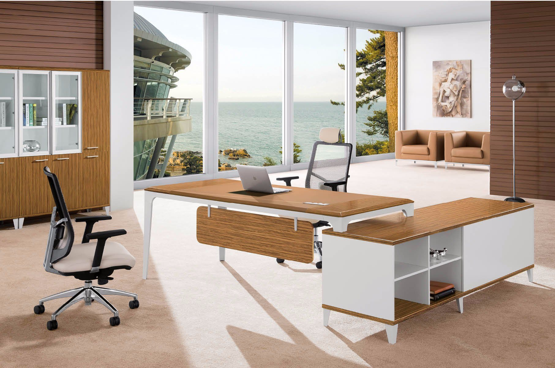 Stainless Steel Furniture Metal Base Executive Office Table (HX-AD815)