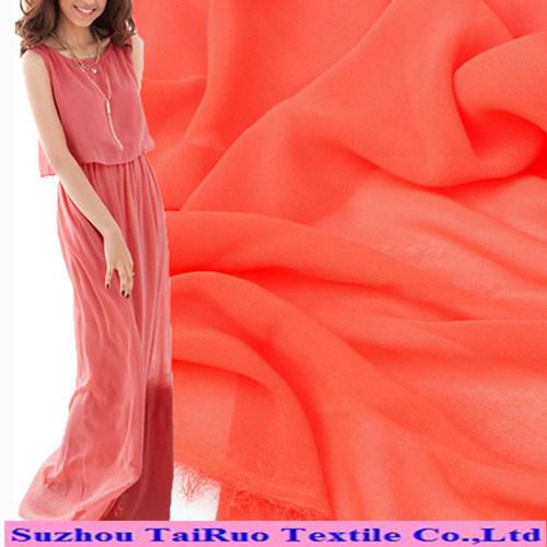Polyester Colorful Chiffon Fabric for Long Dress Chiffon New Style