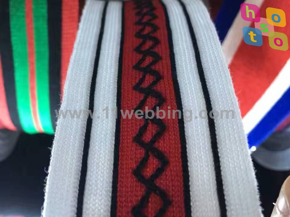 Customized Garment Accessories Clothing Woven Knitted Webbing