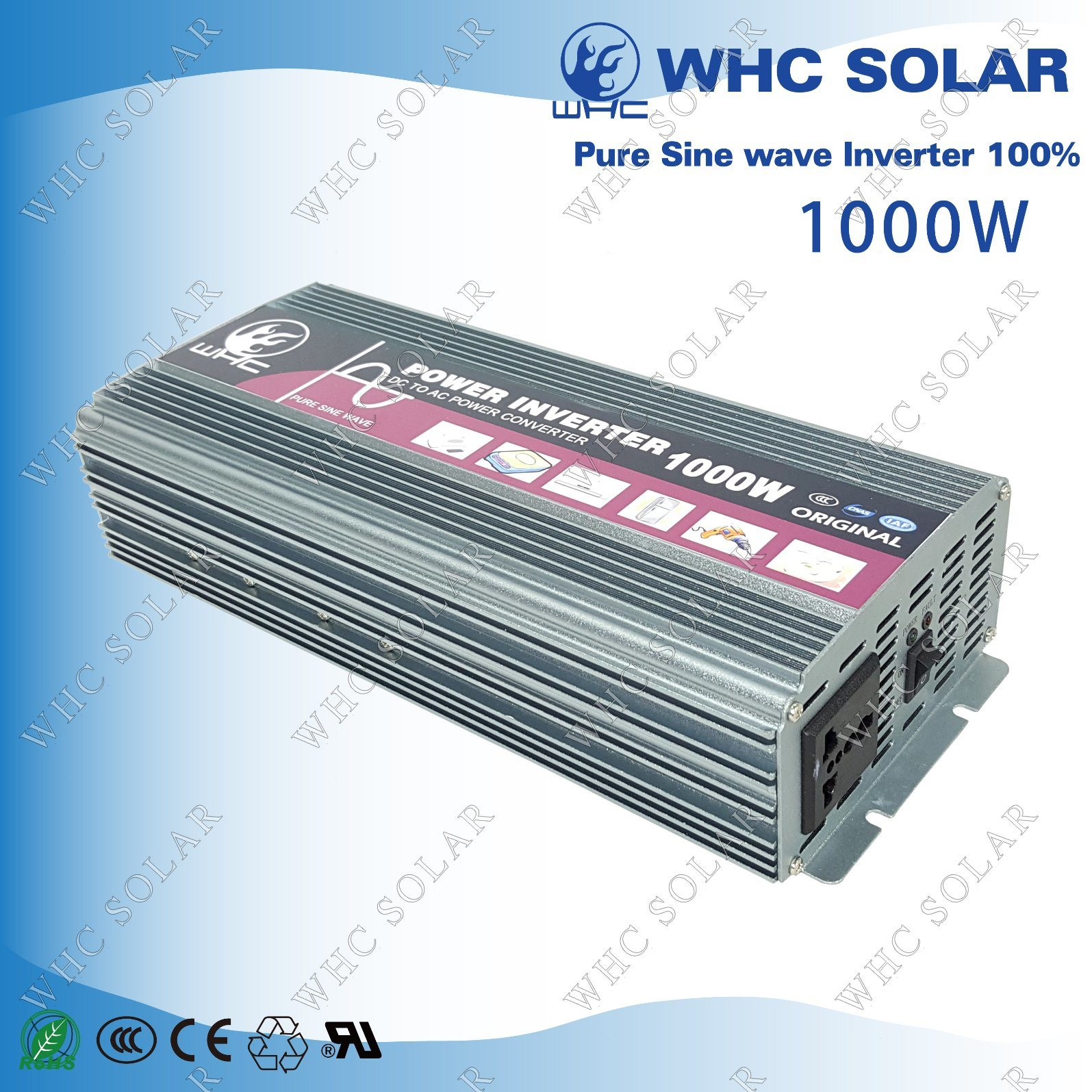 12V1000W Full Power High Frequency Pure Sine Wave Inverter