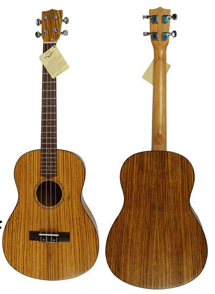 China Aiersi Plywood Zebrawood Hawaii Baritone Ukulele