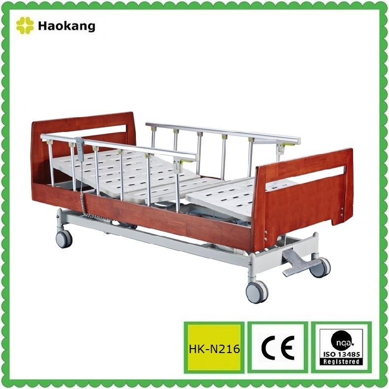 Hospital Wooden Bed for Electric Adjustable Medical Equipment (HK-N215)