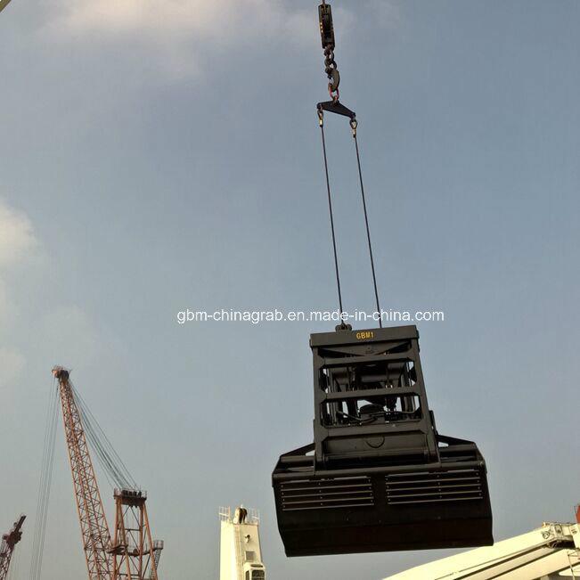 25t Single Rope Radio Remote Control Clamshell Grab 6-12 Cbm