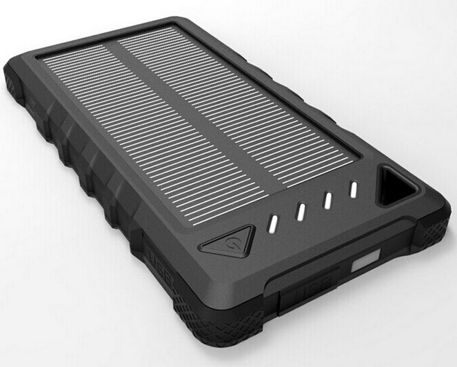 8000mAh Wateproof Power Bank Portable Solar Mobile Charger