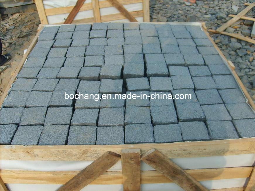 Zhangpu Flamed Black Granite Cube Basalt for Outdoor Paving