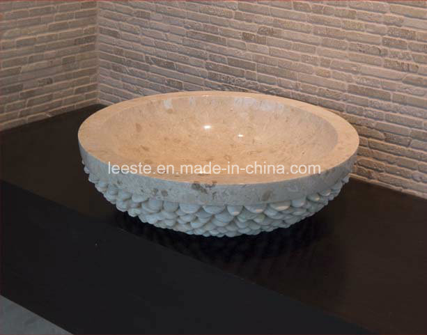 Building Material Beautiful Black Stone Marble Sink for Bathroom and Kitchen