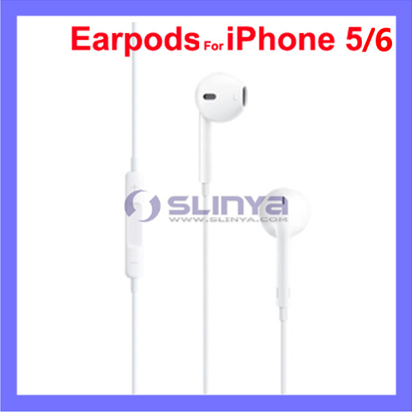 Colorful 3.5mm Stereo Earpods Headphone with Mic & Volume Control for iPhone 6 5 Earphone