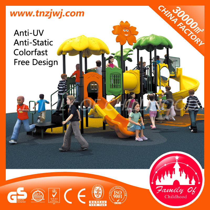 Childrens Playhouse with Slide Outdoor Play Slide Equipment in Guangzhou