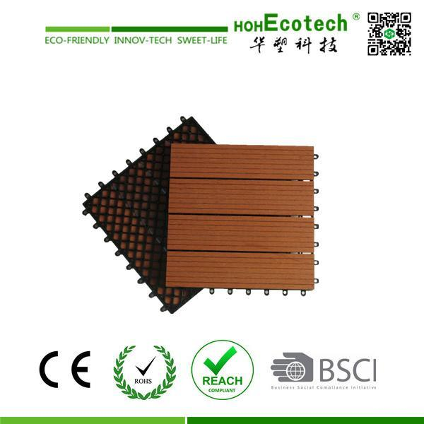 DIY Interlocking WPC Decking Tiles Interior/Exterior WPC Floor Tile (30S30)