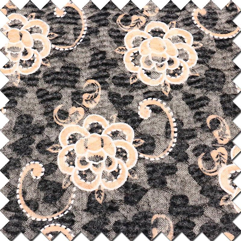 Burnt-out Woolen Fabric of High Quality