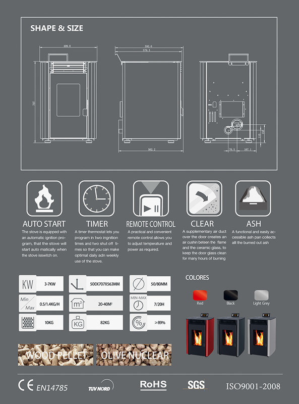 Portable Biomass Wood Pellet Burnign Stove / Fireplace (CR-10)