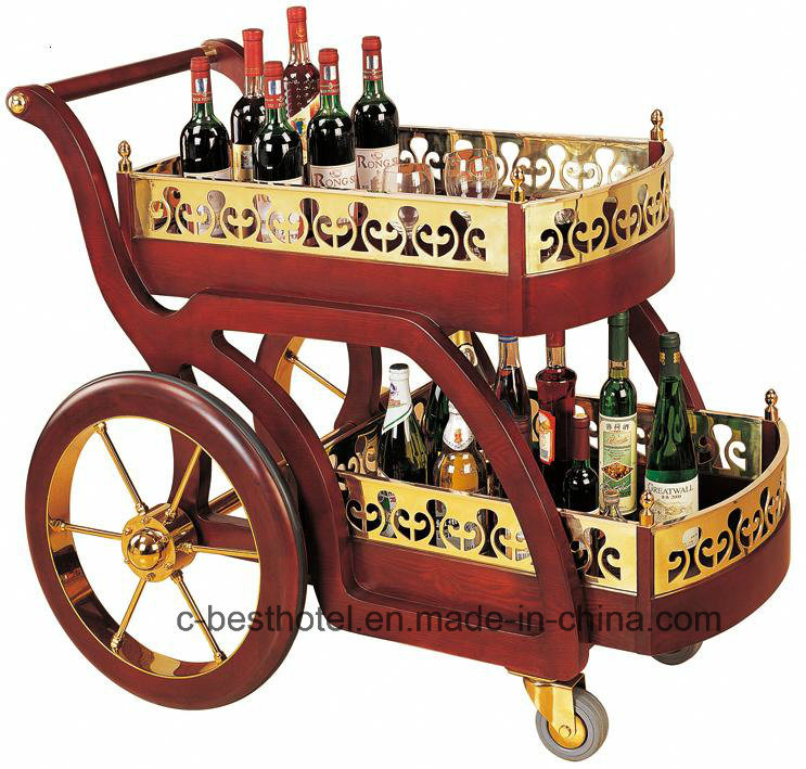 Hotel Wine Serving Cart Hotel Liquor Trolley