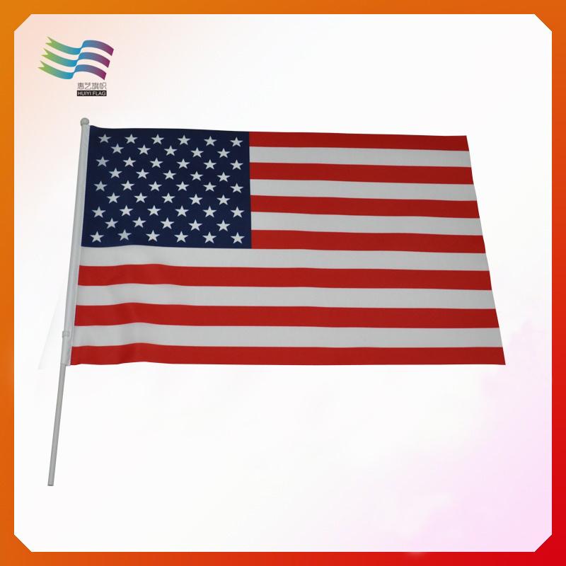 America Custom Hand Flags, Polyester Flag, Paper Flag (HYHF-AF068)