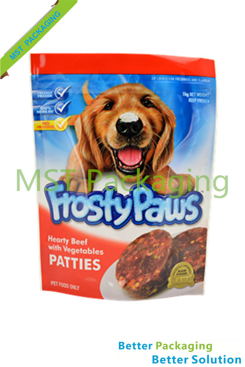 Dog Pet Food Stand up Pouch / Plastic Packaging Bag
