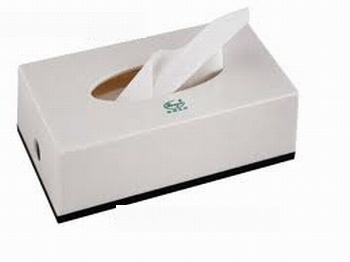 Durable 2-Ply Thickness Paper Facial Tissue Sheets ((N-010)
