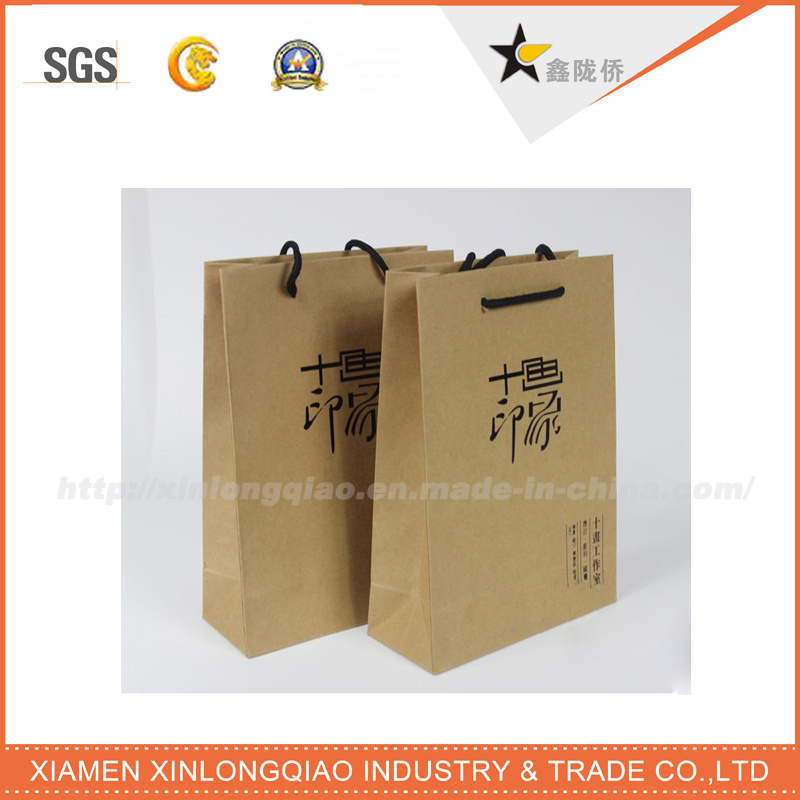 High Quality Recyclable OEM Brown Paper Shopping Bags
