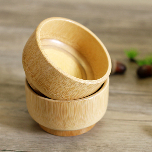 Natural Bamboo Bowl Child Health Eco-Friendly Bamboo Bowls Tableware